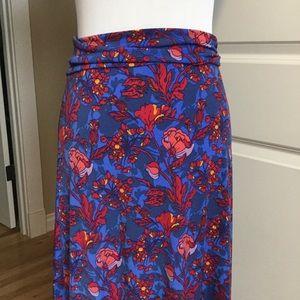 LuLaRoe Maxi Skirt * Medium * Blue Floral
